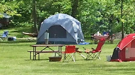 Picture of our Tenting